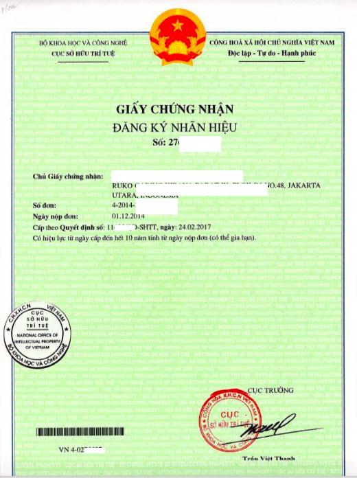 Trademark in Vietnam - Vietnam Trademark Registration - Trademark Certificate in Vietnam