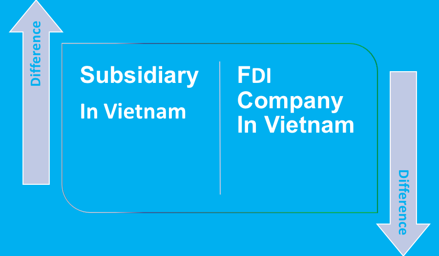 Difference between subsidiary and FDI company in Vietnam