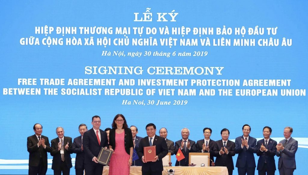 Vietnam and the European Union formally signed EVFTA