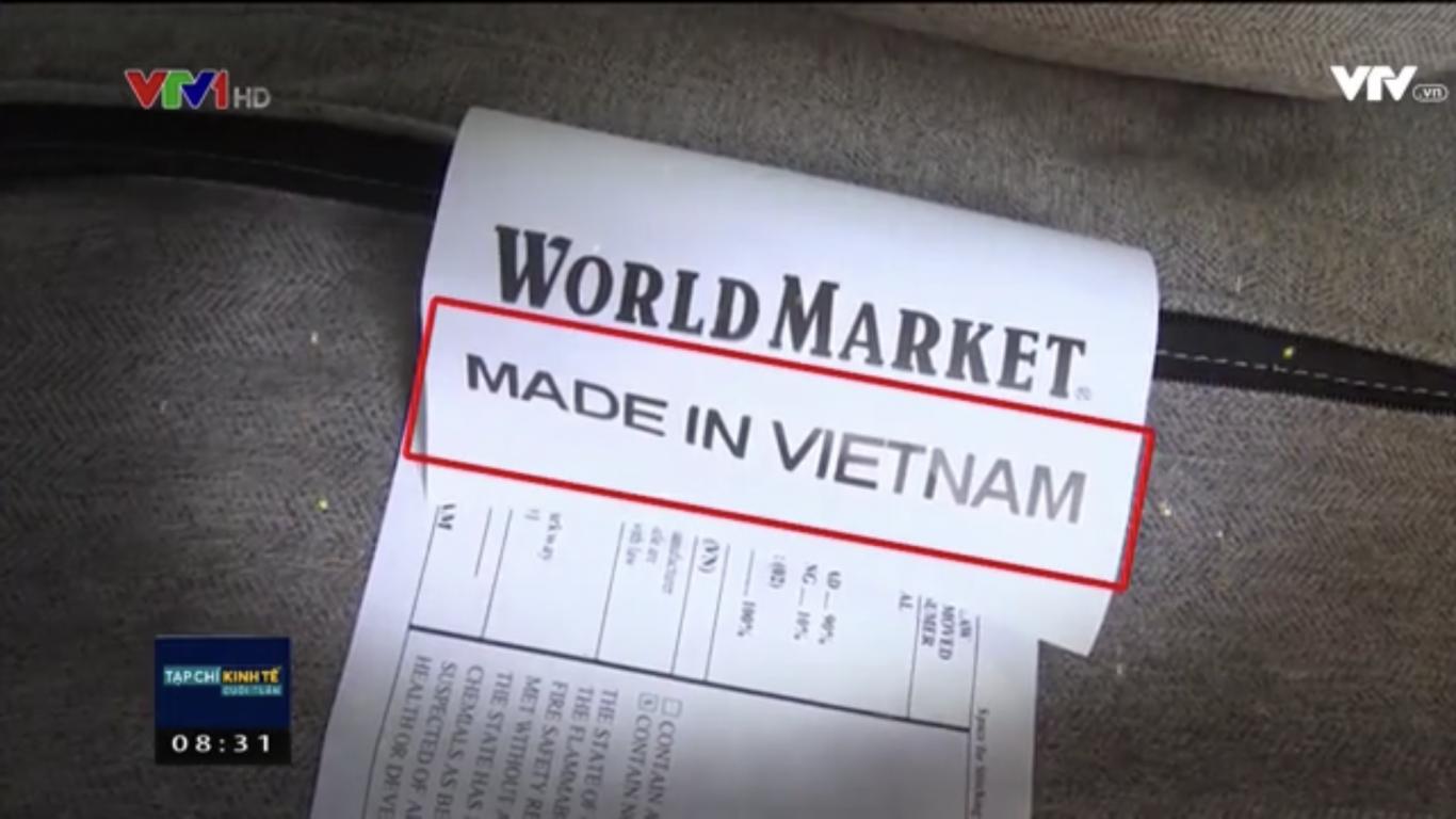 Tạp chí kinh tế cuối tuần của VTV bàn luận về quy định ghi xuất xứ hàng hoá Made In Vietnam