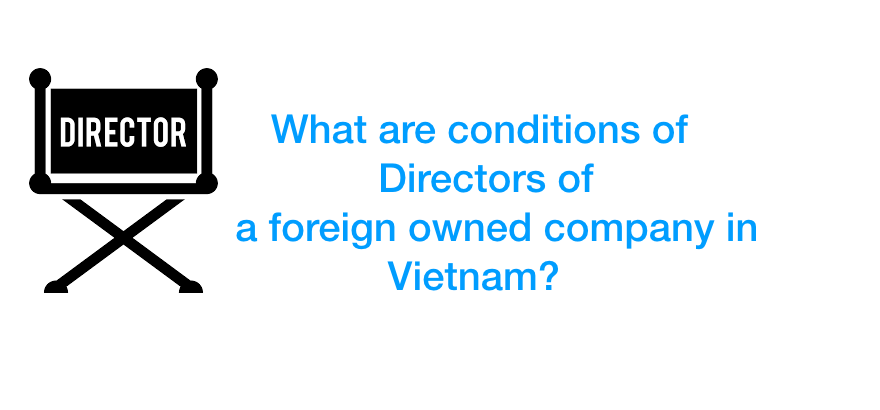 What are conditions of Directors of a foreign owned company in Vietnam?