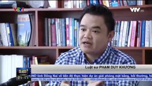 Luật sư Phạm Duy Khương trả lời VTV về dự thảo thông tư về sản phẩm của Việt Nam, sản xuất tại Việt Nam
