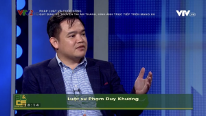 Lawyer Pham Duy Khuong of ASL LAW talking about legal aspects of livestream on social media