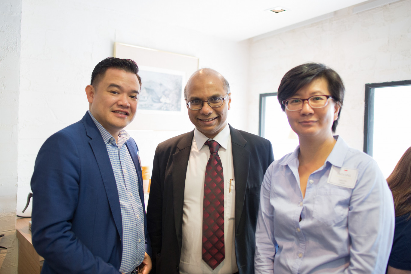 ham with Gregory Vijayendran, President of the Law Society of Singapore (Also partner of Rajah & Tann), and Faith Sing, Director of FSLaw.