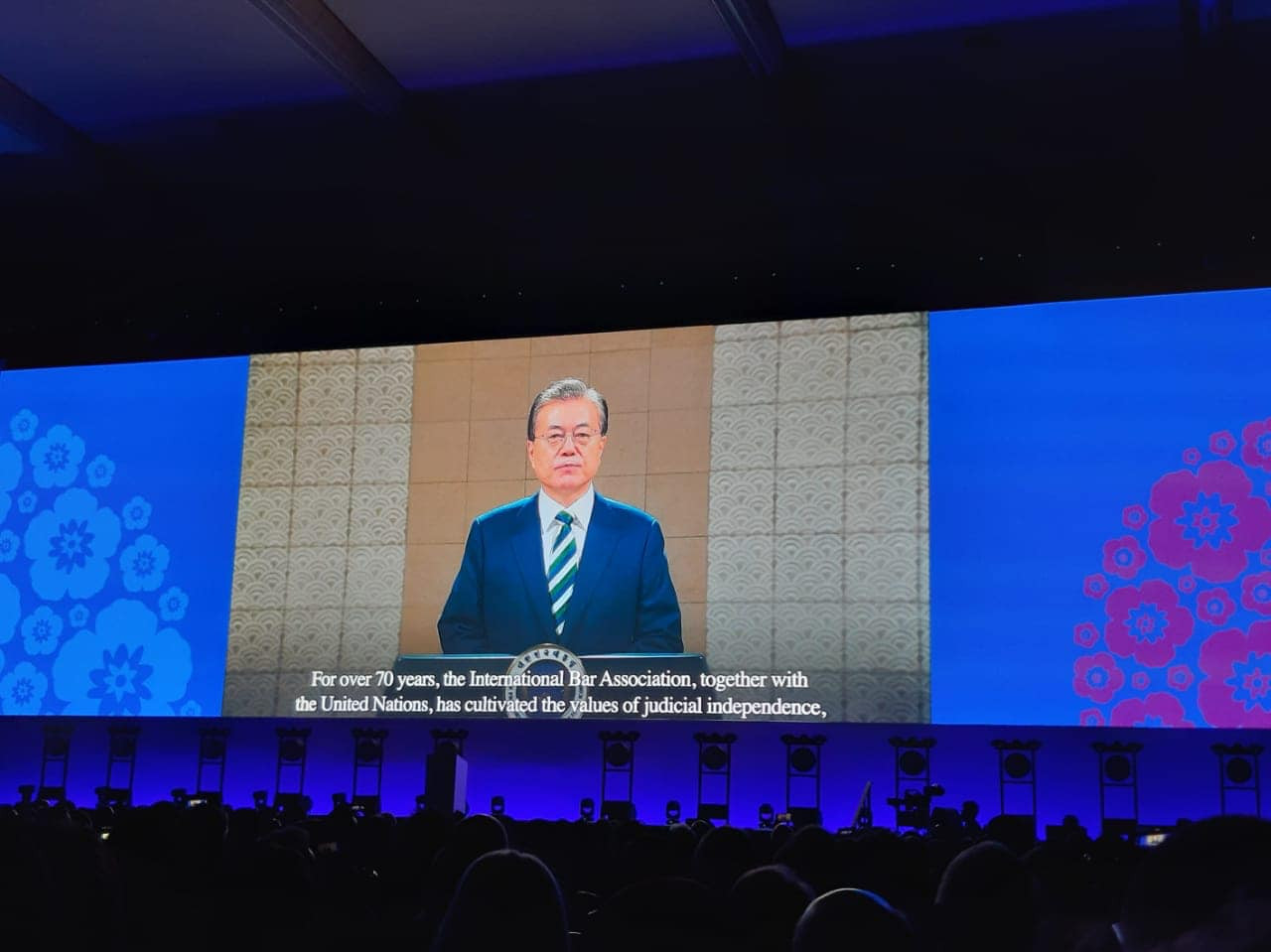 Moon Jae-in, president of South Korea , shared thought about the IBA 2019