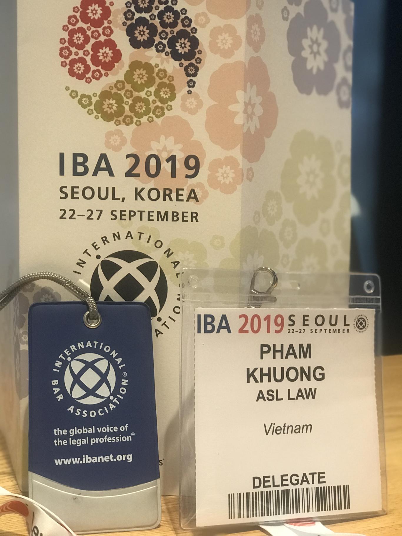 ASL LAW attended IBA 2019, Seoul. Vietnam International Law Firm. Vietnam Law Firm
