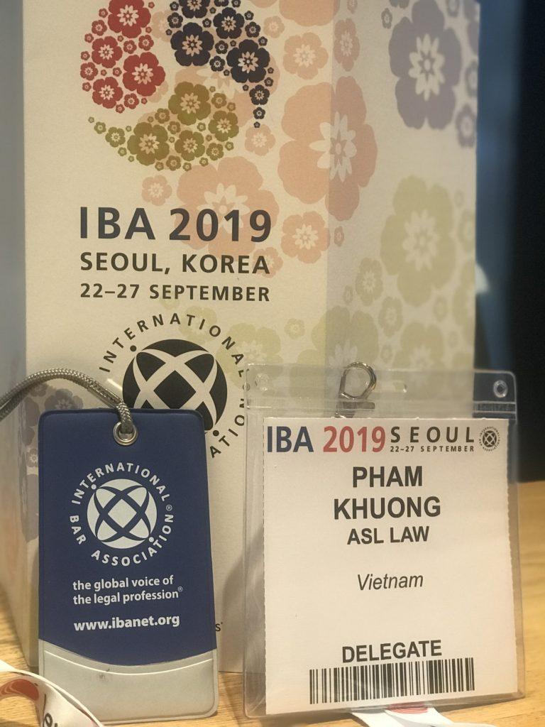 IBA 2019, Seoul Korea. International Vietnam Law Firm
