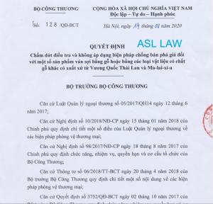 Chống bán phá giá: ASL LAW giúp khách hàng thành công trong điều tra chống bán phá giá đối với các sản phẩm ván sợi làm từ gỗ hoặc các vật liệu làm từ gỗ khác có nguồn gốc từ Thái Lan và Malaysia, công ty luật chống bán phá giá, luật sư chống bán phá giá