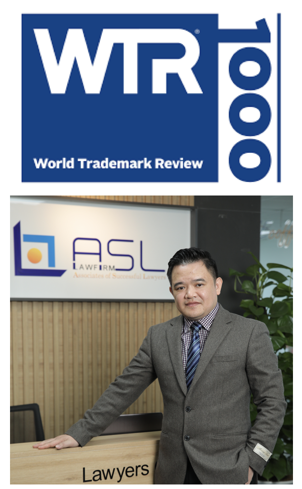 Lawyer Pham Duy Khuong of ASL LAW is ranked as the top tier trademark attorney in Vietnam by WTR