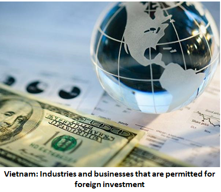 Industries and businesses that are permitted for foreign investment in Vietnam, Industries permitted for foreign investment, businesses permitted for foreign investment, investment in Vietnam, foreign investors in Vietnam