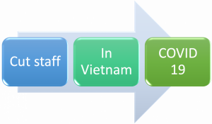 Cut staff to lessen the Covid-19 impacts in Vietnam, cut staff in Vietnam, Cut staff in Vietnam by Covid, cut staff by covid in Vietnam