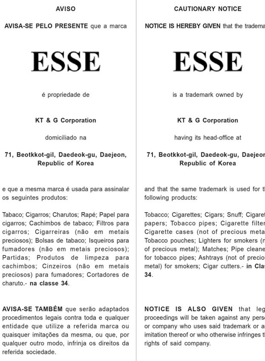 Mẫu giấy chứng nhận đăng ký nhãn hiệu tại East Timor